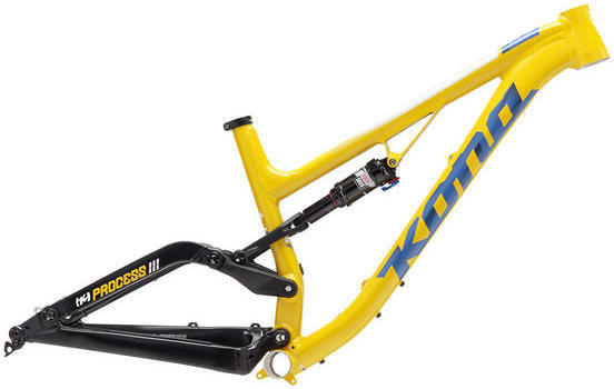 Kona Process 111 Frameset Color: Matt Yellow/Black/Blue/White