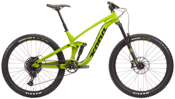 Kona Process 153 27.5 Color: Matte Lime/Black