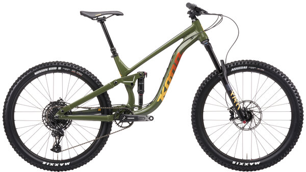 Kona Process 153 27.5 Color: Satin Fatigue Green