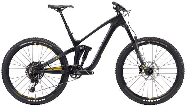 Kona Process 153 CR 27.5 Color: Matt Black w/Grey & Yellow Decals