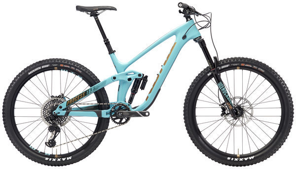 Kona Process 153 CR/DL 27.5 Color: Gloss Aqua w/Copper & Charcoal Decals