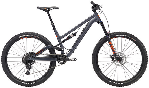 Kona Process 153 SE Color: Matt Charcoal w/Black & Orange Decals