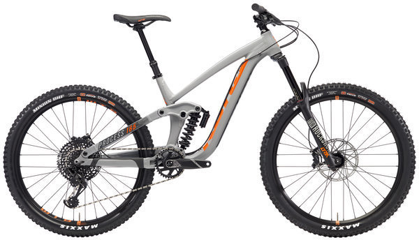 Kona Process 165 Color: Matt Grey w/ Charcoal & Orange Decals