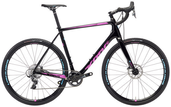 Kona Super Jake Color: Gloss Black w/Magenta & Cyan Decals