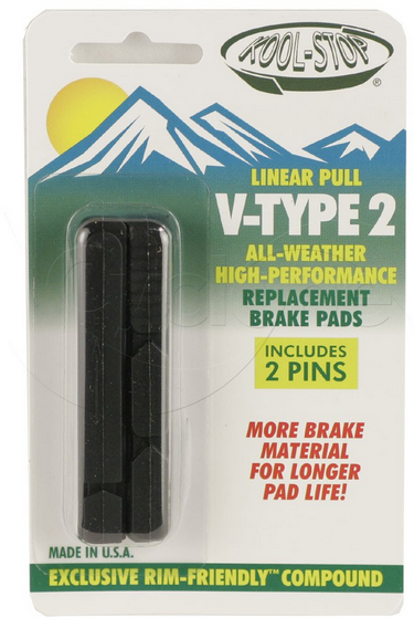 Kool-Stop V-Type 2 Brake Pad Inserts Option: Black