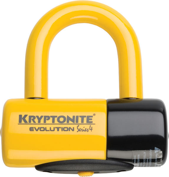 Kryptonite Evolution Series 4 Disc U-Lock Color: Yellow