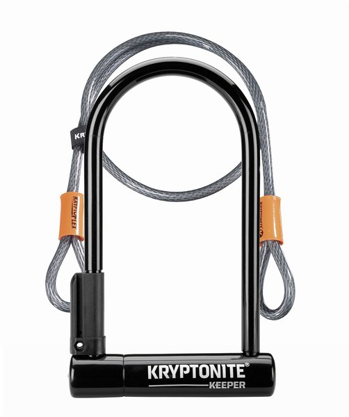 Kryptonite Keeper STD w/4' Flex Color: Black