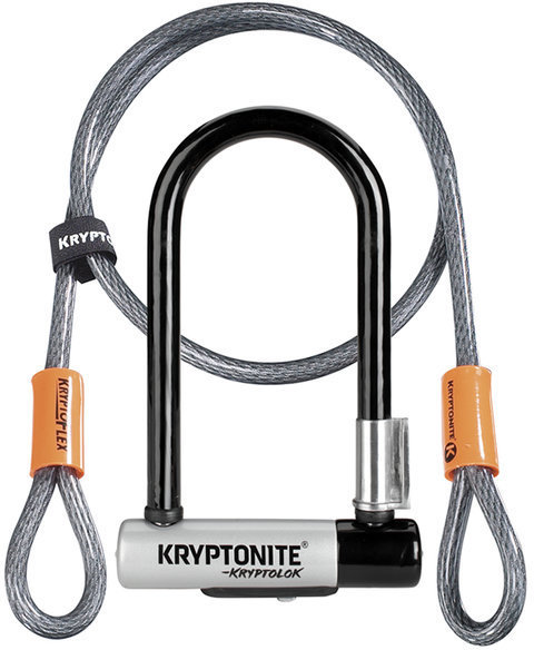 Kryptonite New-U KryptoLok Mini-7 w/Flex Color: Black/Silver