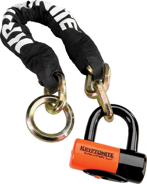Kryptonite New York Cinch Ring Chain (w/Evolution Series 4 Disc Lock) (2.25 feet)