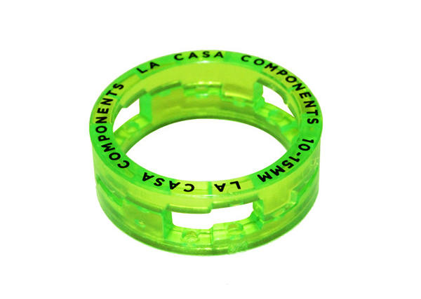 La Casa Step Headset Spacer Color: Clear Fluorescent Green