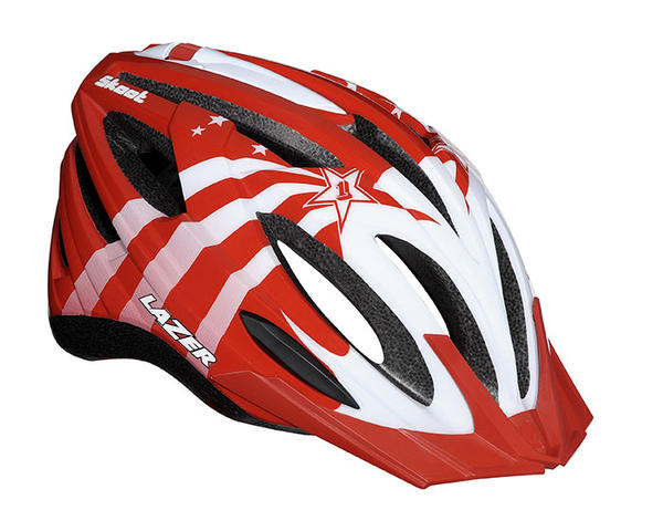 Lazer Sport Skoot - Kids Color: Red/White