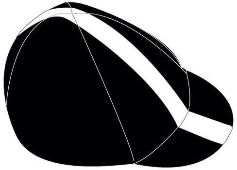 Lazer Sport Cycling Cap Color: Black with White Line