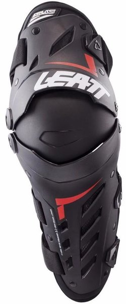 Leatt Knee & Shin Guard Dual Axis Color: Black/Red