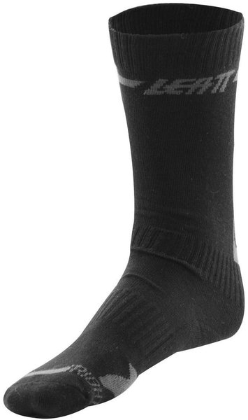 Leatt Socks DBX Color: Black/Grey