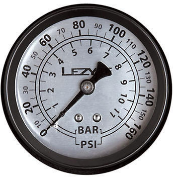 Lezyne 160 PSI Gauge Color: Black/Silver