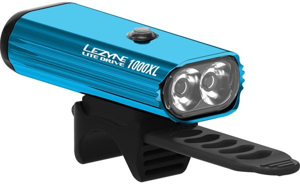 Lezyne Lite Drive 1000XL Color: Blue/Hi Gloss