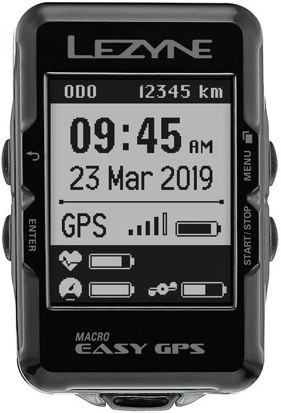 Lezyne Macro Easy GPS Color: Black