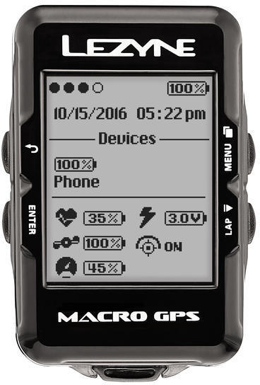 Lezyne Macro GPS HRSC Loaded Color: Black