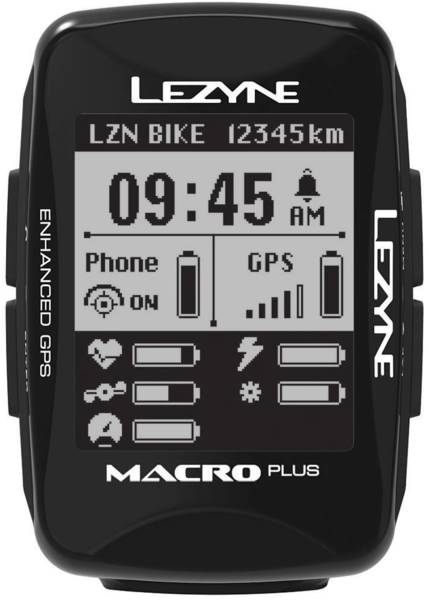 Lezyne Macro Plus GPS Smart Loaded Color: Black