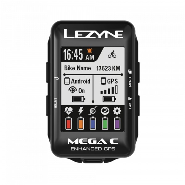 Lezyne Mega C GPS Smart Loaded Color: Black