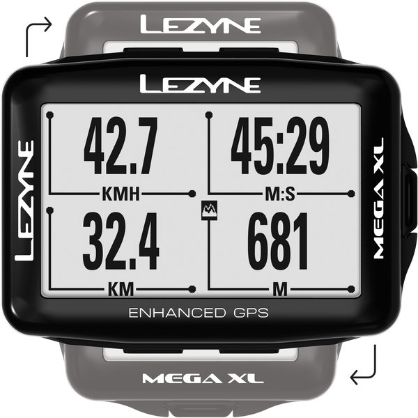 Lezyne Mega XL GPS Color: Black
