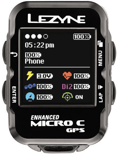 Lezyne Micro C GPS HR Loaded Color: Black