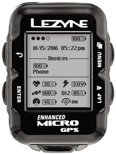 Lezyne Micro GPS HRSC Loaded Color: Black