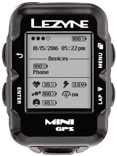 Lezyne Mini GPS HRSC Loaded Color: Black