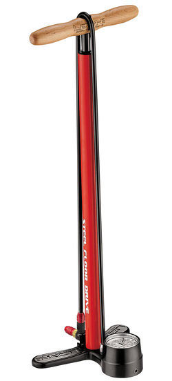 Lezyne Steel Floor Drive Pump Color: Fire Red
