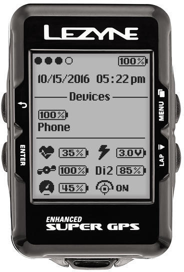 Lezyne Super GPS HRSC Loaded Color: Black