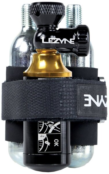 Lezyne Tubeless Co2 Blaster w/Two 20g Cartridges Color: Black/Gold