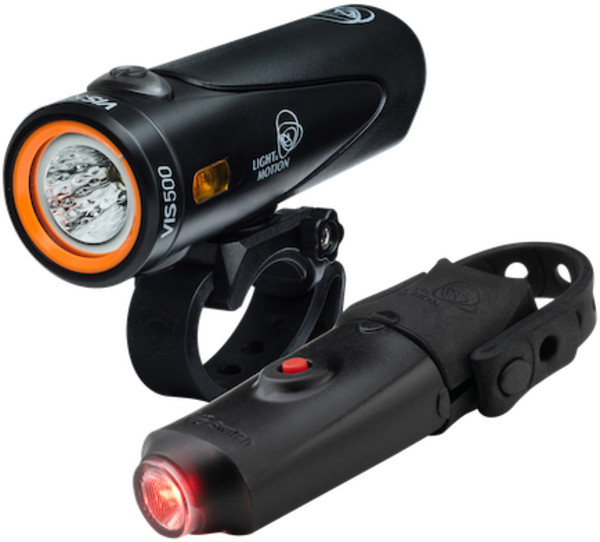 Light & Motion Vis 500 & Vya Switch Combo Color: Onyx Black