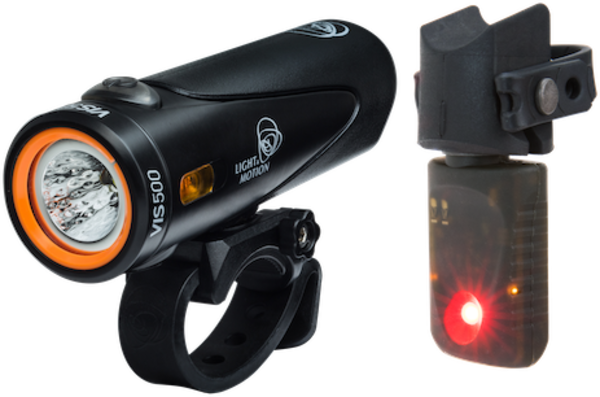 Light & Motion Vis 500 & Vya Commuter Combo Color: Onyx Black