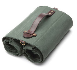 Linus The Market Bag Color: Army Green/Cream Interior