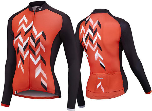 Liv Accelerate Long Sleeve Jersey - Women's Color: Coral/Charcoal