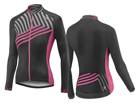 Liv Accelerate Thermal L/S Jersey - Women's Color: Black/Pink