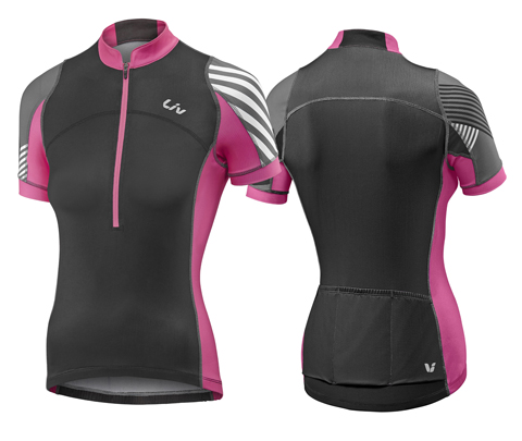 Liv Aqua S/S Jersey - Women's Color: Black/Pink