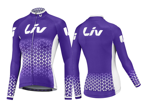Liv BeLiv Long Sleeve Jersey Color: Purple/White