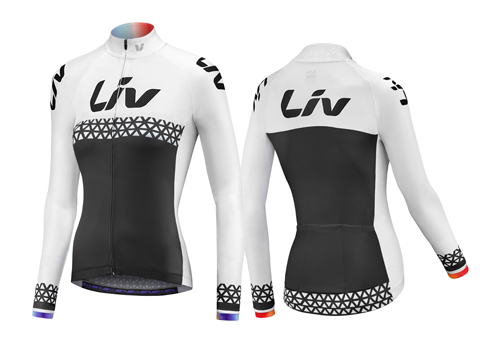 Liv BeLiv-Luna Long Sleeve Jersey Color: Black/White/Rainbow