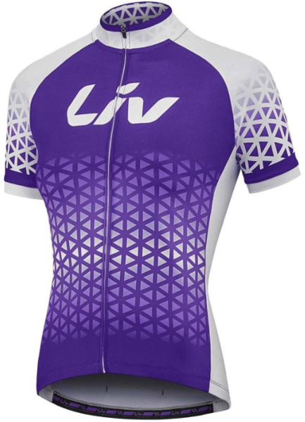 Liv BeLiv Short Sleeve Jersey Color: Purple/White