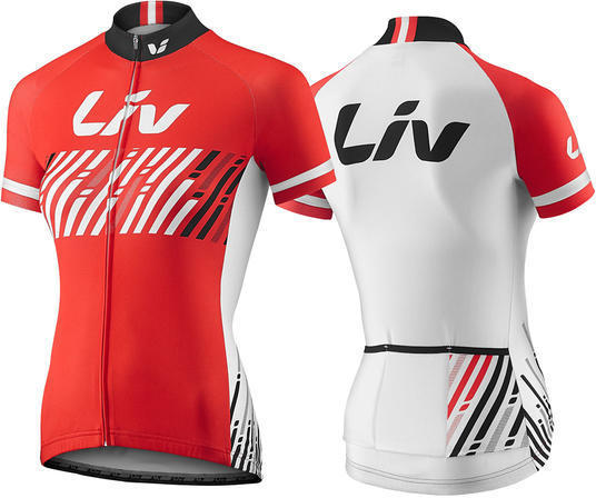 Liv Beshort Sleeve Jersey Color: Red/White