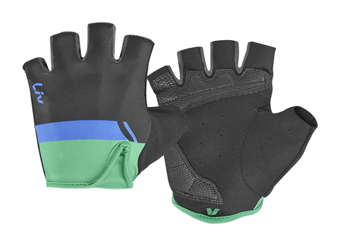 Liv Capitana Short Finger Gloves - Women's Color: Black/Blue/Green