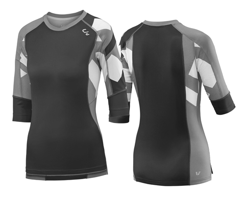 Liv Charm 3/4 Jersey - Women's Color: Black/Grey
