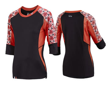 Liv Charm Short Sleeve Jersey - Women's Color: Charcoal/Coral
