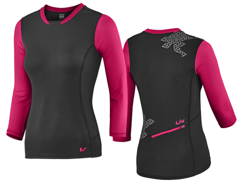 Liv Energize 3/4 Sleeve Jersey Color: Black/Virtual Pink