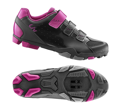 Liv Fera Off-Road Shoes Color: Black/Fuchsia