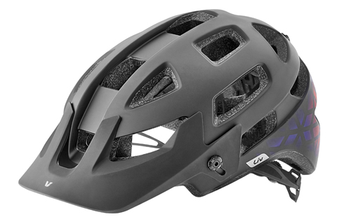 Liv Infinita SX MIPS Helmet Color: Matte Black/Gradient Red