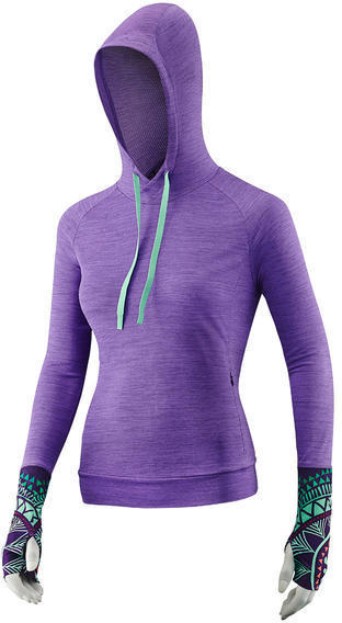 Liv Izzy Transtextura Pullover Hoodie Color: Heather Purple