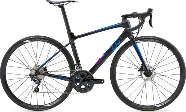 Liv Langma Advanced Disc Color: Satin Dark Blue Carbon/Fuchsia/Blue