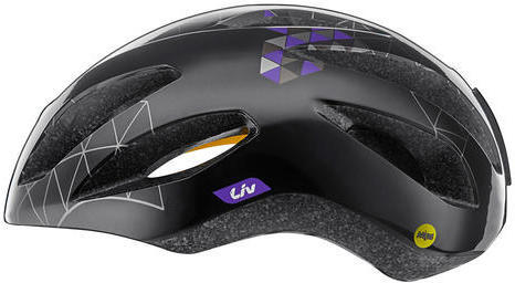 Liv Lanza Helmet MIPS Color: Black/Purple